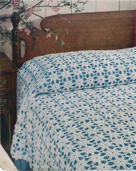 Crochet Patterns Queen Size Bed : Maggies Crochet ? Popcorn Motif Bedspread Free Pattern ...