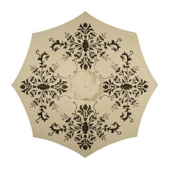 Florence Hand-Painted Patio Umbrella - More Colors Available