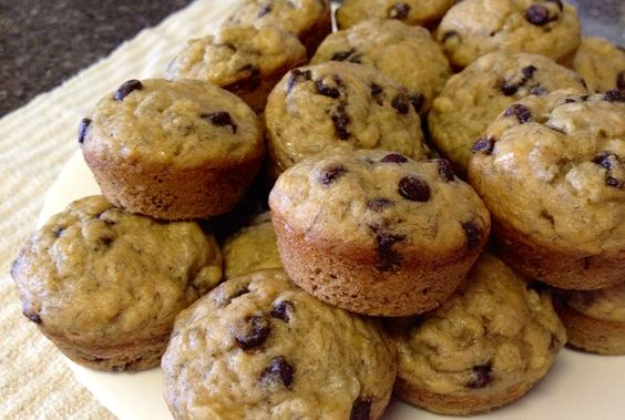Chocolate Chip Banana Mini Muffins.