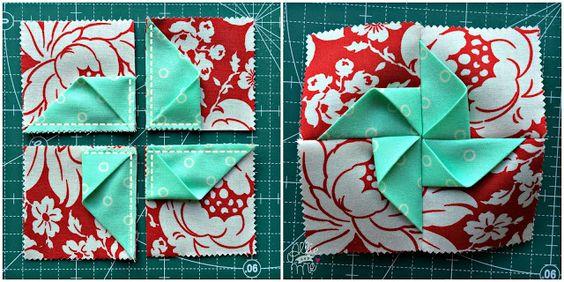 Allie & Me design: Pinwheel Pincushion ★ Tutorial