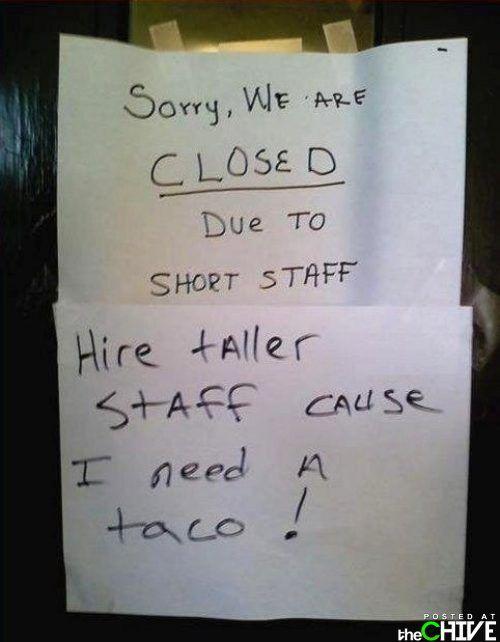 taller staff