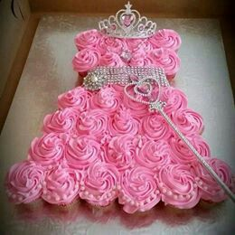 Sweet Princess Gown Cake