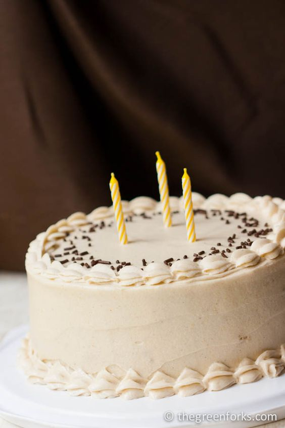 Vegan Vanilla Birthday Cake Recipe Birthday cakes ...
