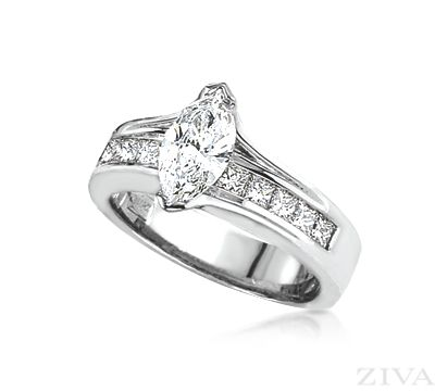 Marquise diamond cathedrals and princess cut on pinterest