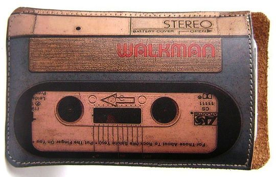 Leather Walkman iPad Case.
