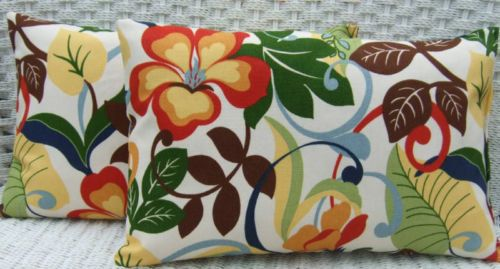 Set of 2 Pillow Covers  Indoor / Outdoor by PillowsCushionsOhMy