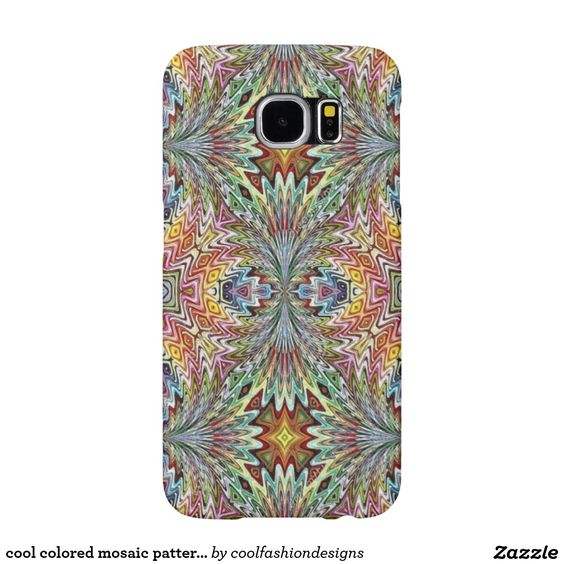 cool colored mosaic pattern case