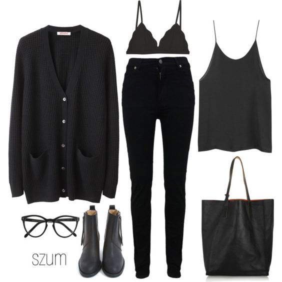 A fashion look from August 2012 featuring Organic by John Patrick cardigans, Cheap Monday jeans and Cosabella bras. Browse and shop related looks.