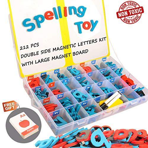 Magnetic Letters Kit 212pcs A Z Foam Magnetic Letters A Https Www Amazon Com Dp B07m8js2vt Ref Magnetic Letters Magnetic Alphabet Letters Learning Cards
