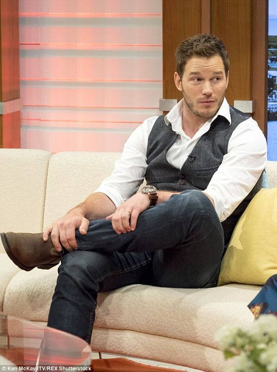 Not long now: Jurassic World opens in cinemas this weekend which will mean Chris' exhausting round-the-world promo tour is over