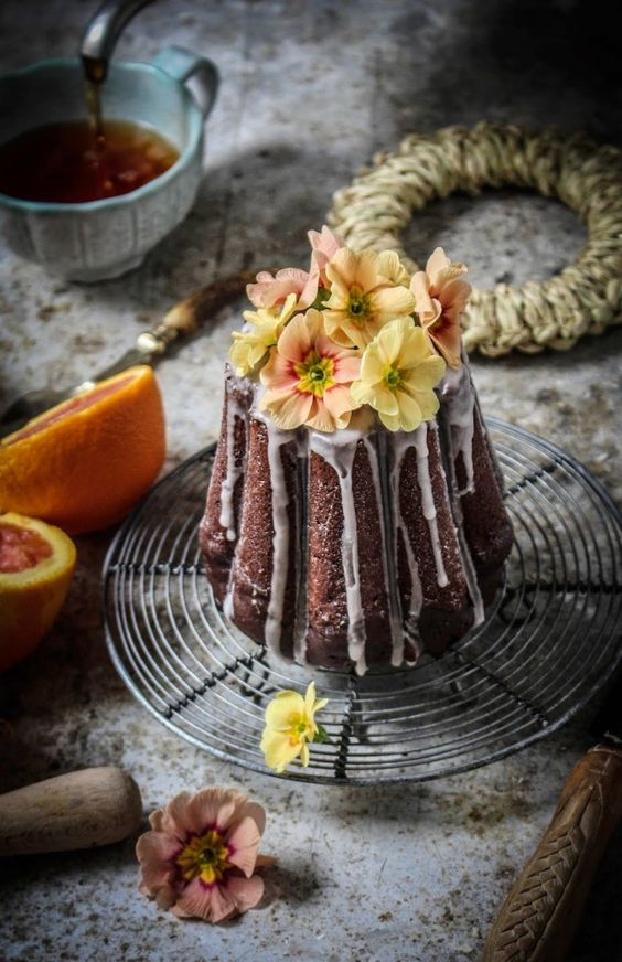 this cake has the juice and zest from a blood orange, with dutch process cocoa and cacao nibs and is drizzled with a blood orange glaze. my kitchen smelt so amazing while this was baking...Read The Post