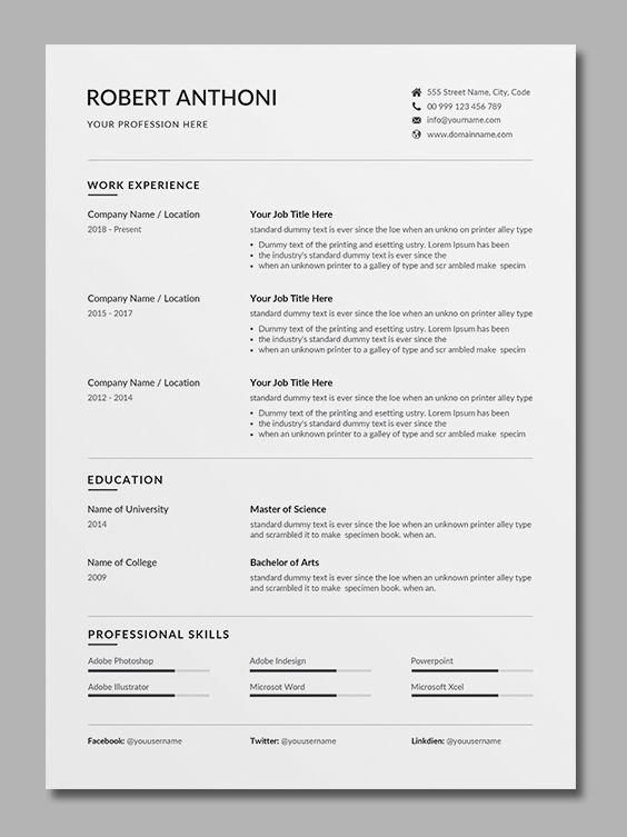 Resume Template Word Resume Template Word Cover Letter For Resume Resume Template