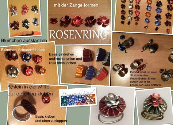 Rosenring aus Nespresso Kapseln selber herstellen