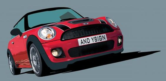 Photoshoped Mini Cooper, Car