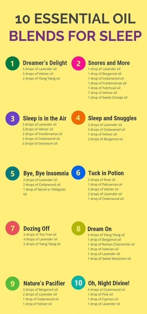 Doterra essential oils recipes for sleep health