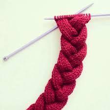bufandas trensa tejidas en dos agujas , Buscar con Google