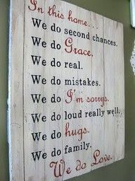 saying: Sign Project, Family Sign, So True, Thought, House Rules, In This House, My Family, Family Motto, Family Rules