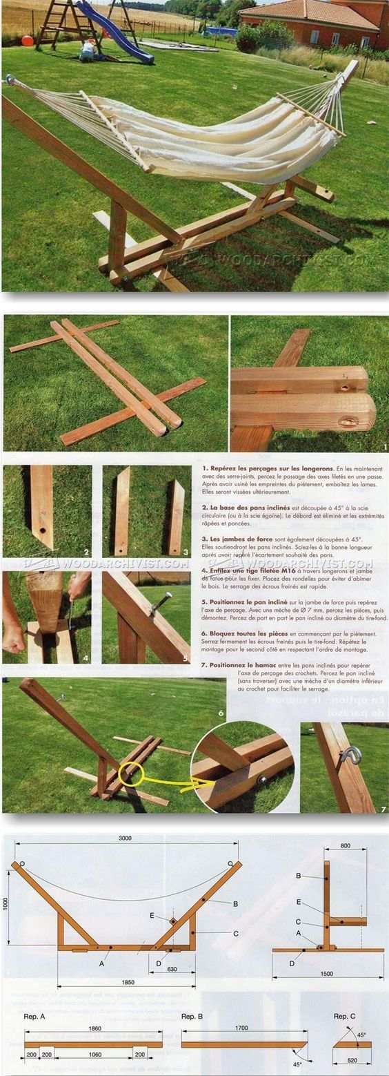 Hammock stand plans outdoor plans and projects - Soporte para hamacas ...