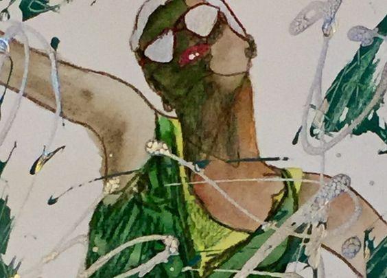 Aquarell - Abstraktes Portrait - Original - Kunst - Aquarell - ein Designerstück von mizzonybaby bei DaWanda