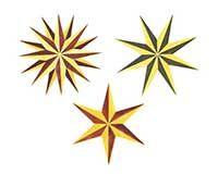 Small Assorted Stars Wall Stencil