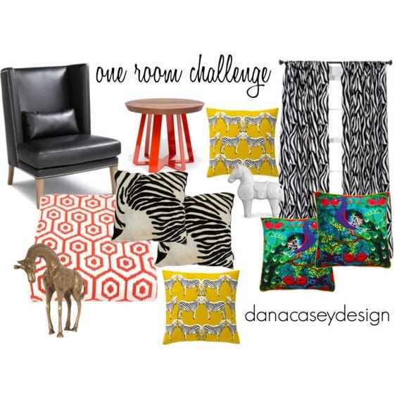 one room challenge: week 1 | danacaseydesign | traditional meets jungle funk