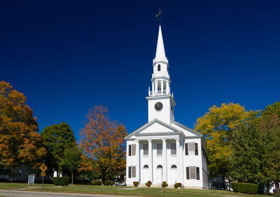 Wooden Church In Autumn