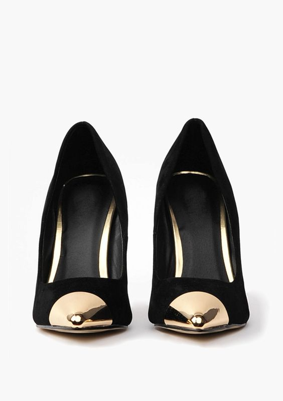 Gold tipped black heels // | • Product Design • Inspiration ...