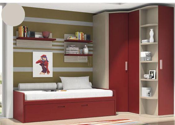 Juvenil con armario rinc n de puerta convexa dormitorios - Armarios de rincon ...