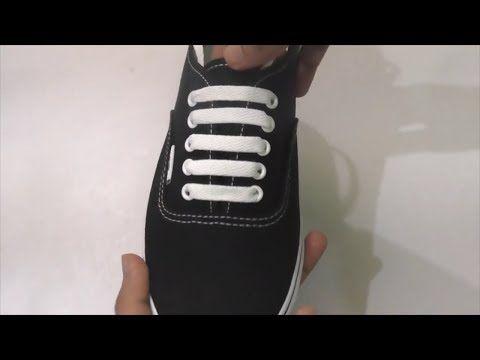 Cara Pasang Tali Sepatu Simpel 5 Lubang Vans Dll Youtube Caras