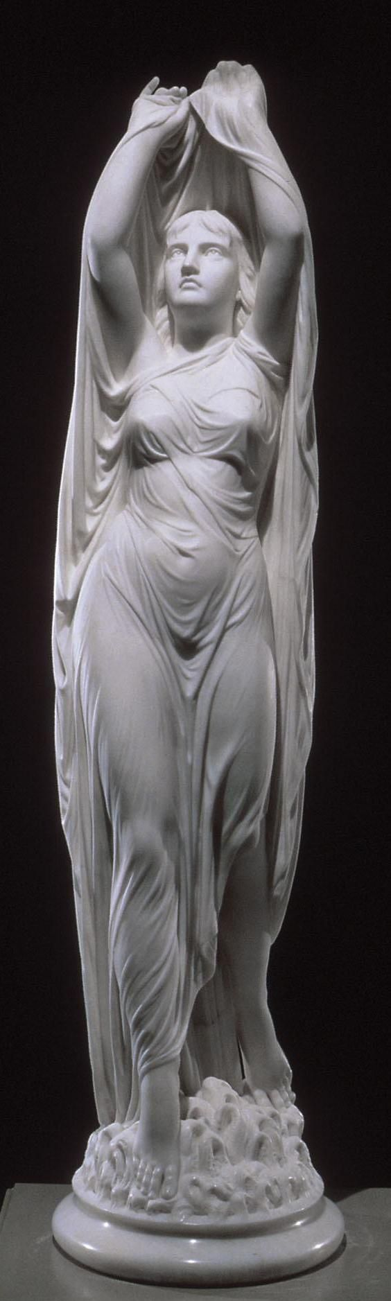 Undine Rising from the Waters by Chauncey Bradley (ca. 1880-1882).: