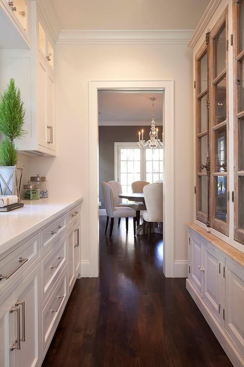 Long Butler 39 S Pantry Features A French Glass Front