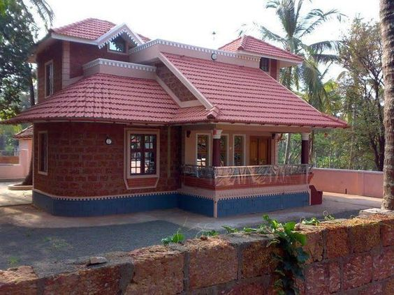 Indian house indian house designs and model photos on for Small indian house images