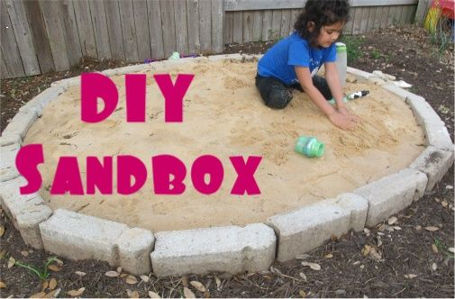 DIY Sandbox....nice and easy