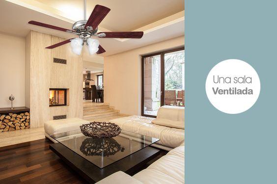 Este verano es una época perfecta instalar un ventilador de techo en tu sala.