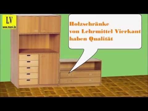Videos Schulmöbel, Büromöbel, Holzschrank, Schrankwand,