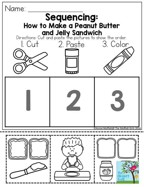 Counting Number worksheets time sequence worksheets kindergarten – Sequence Worksheets Kindergarten