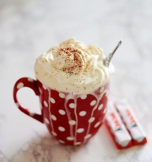 Chocolat chaud, Kinder... bonheur ! après la ballade du dimanche en hiver !!!