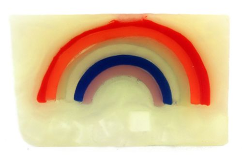 A burst of bright citrus, melon, and fresh mint. Each soap is hand sliced at 100…