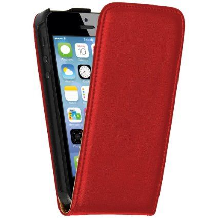 OneFlow PREMIUM - Flip-Case - für Apple iPhone 5 / 5S - ROT