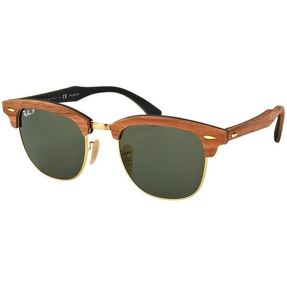 Ray-Ban Men\u0026#39;s Clubmaster Classic Frame ($269) ? liked on Polyvore featuring men\u0026#39;s