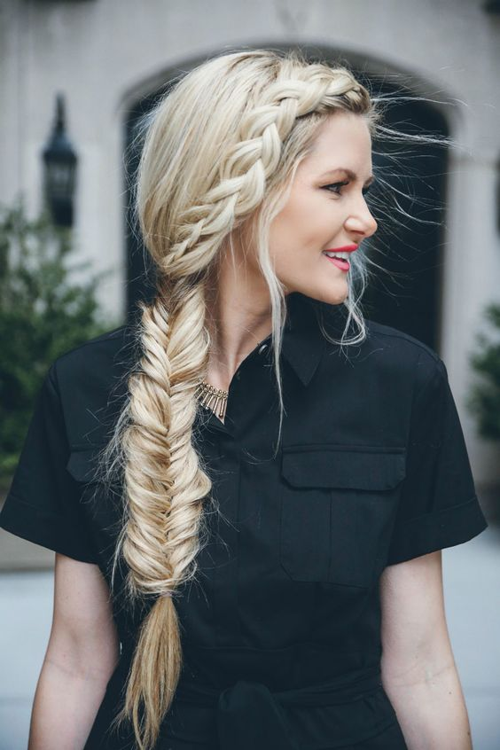 Hairstyle idea for my girl. Lord & Taylor Birdcage Event - Barefoot Blonde by Amber Fillerup Clark