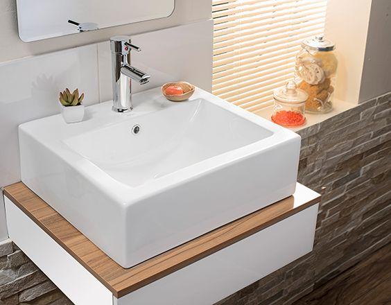 Baños Modernos Homecenter: baños con vanitorios flotantes son tendencia #Sodimac #Homecenter