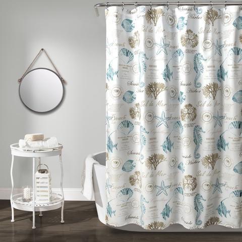 Seaside Harbor Shower Curtain Fabric Shower Curtains Coastal