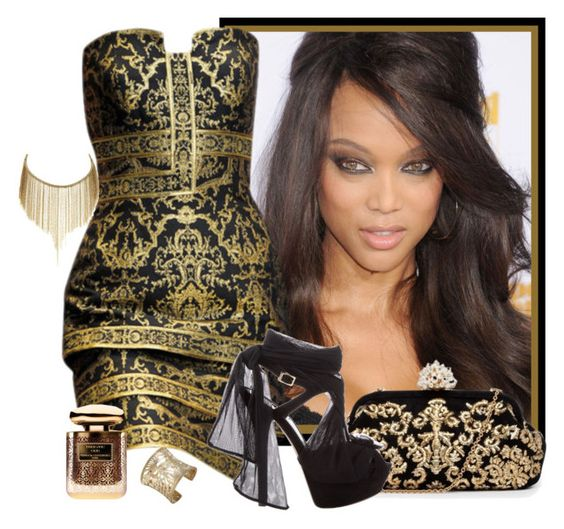 """Oro Negro"" by juliagomez74 ❤ liked on Polyvore featuring Dolce&Gabbana, Fendi, Simon Alcantara, Terry de Gunzburg and John Hardy"