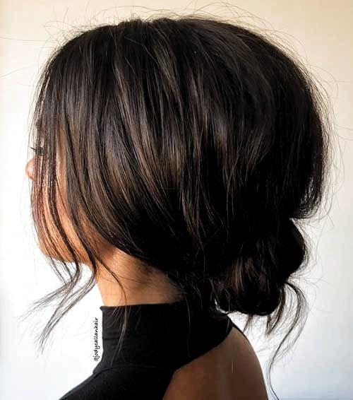 Kısa Saçlar için Ense Topuzu