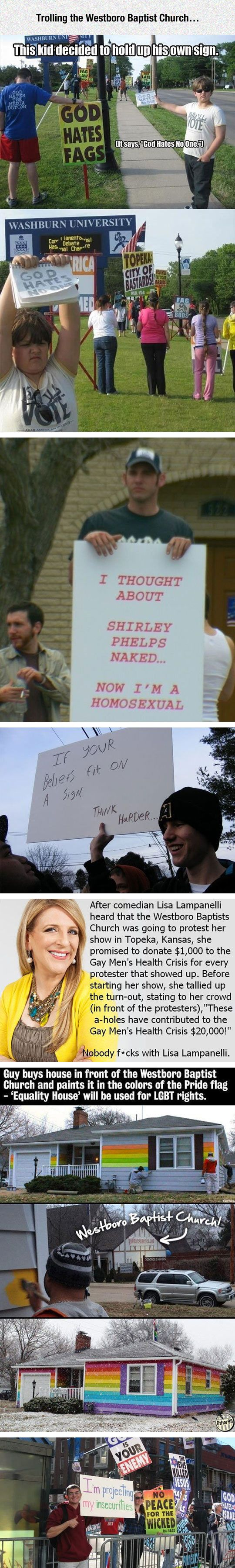 I especially like the if your beliefs fit on a sign, then your beliefs are wrong --Dealing With Westboro Baptist Church