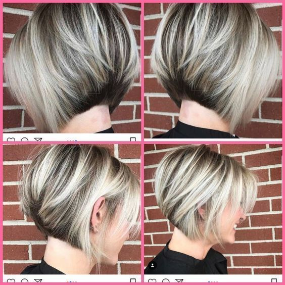 42 Cute Short Bob Haircuts For Women In 2019 Shortbobhairstyles Short Bob Haircuts For Fine Hair Haarschnitt Bob Bob Frisur Kurzer Bob Haarschnitt