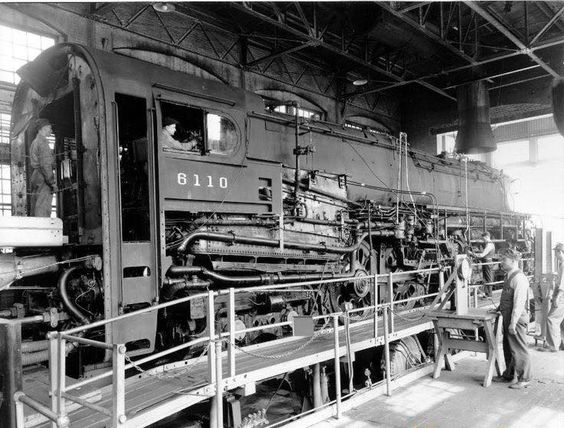 Prr t1 6110 the first prototype being tested at the altoona test station minus her streamlined - Vloerplan studio m ...