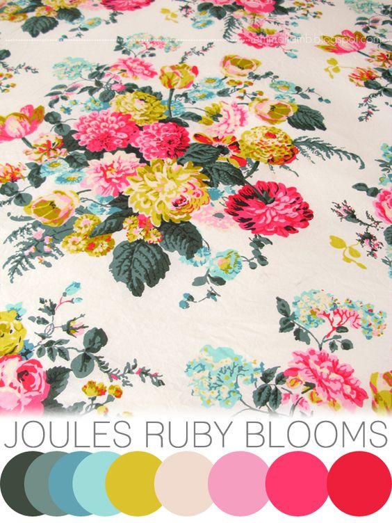 colour crush : Joules Ruby blooms | EMMA LAMB #emmalamb