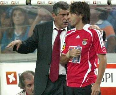 Fernando Santos e Nuno Assis